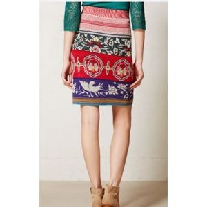 Anthro Moth Chava Pencil Skirt